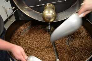 Coffee beans get roasted at Farihope Roasting Co. (Karim Shamsi-Basha/Alabama NewsCenter)
