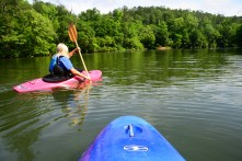 The Cahaba River is a popular place for canoes and kayaks. (Karim Shamsi-Basha/Alabama NewsCenter)