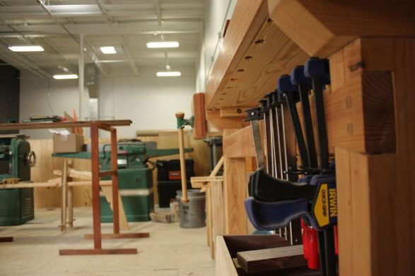 The new MAKEbhm space in Avondale gives makers the tools to do what they want, from beginners to veteran craftspeople. (Colin Nekritz/Alabama NewsCenter)