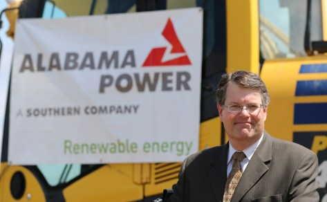 Alabama Power's John Kelley poses for a photo as officials with the power company, the Army and other federal agencies gather at Fort Rucker on Thursday, June 2, 2016, to break ground on the company's second, large-scale solar energy project. (Mike Kittrell/Alabama NewsCenter)