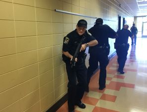 Police, fire and public health officials in Jefferson County participated in the exercise. (Brittany Faush-Johnson//Alabama NewsCenter)