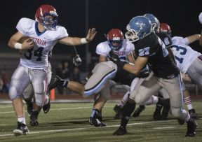 Vestavia High player attempts to get past defenders. (contributed)