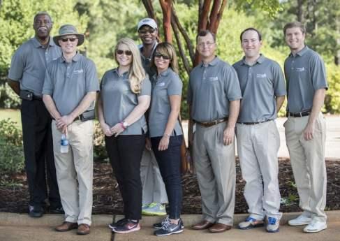 Alabama Power volunteers at the Barbasol Junior Clinic. (Christopher Jones/Alabama NewsCenter)