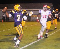 Jackson High quarterback passing vs. St. Paul's Episcopal High. (contributed)