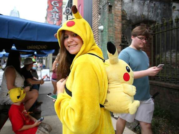 Liz Wainwright, 14, of Theodore attends a Pokémon Go event in Mobile. (Mike Kittrell/Alabama NewsCenter)