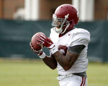 Alabama wide receiver ArDarius Stewart at Monday's practice. (Robert Sutton / UA Athletics)