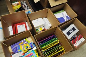 School supplies like paper, notebooks and pens and pencils will be given to students. (contributed)