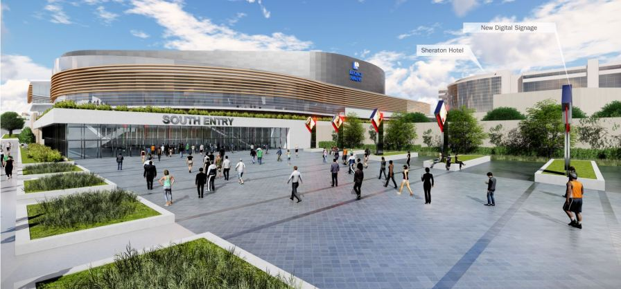 A proposed new southern entrance to the Legacy Arena at the BJCC. (Populous)