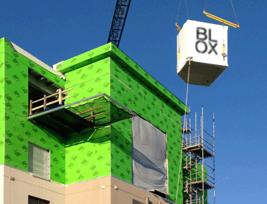 BLOX's modular construction delivers a quality product in a much shorter construction time, its principals say. (BLOX)