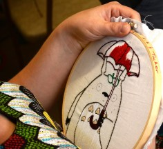 Lillis Taylor wants sewing to become a cottage industry for the elderly and working mothers in Birmingham. (Karim Shamsi-Basha/Alabama NewsCenter)