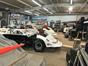 Cars inside the garage at EAMS. (Anne Kristoff/Alabama NewsCenter)