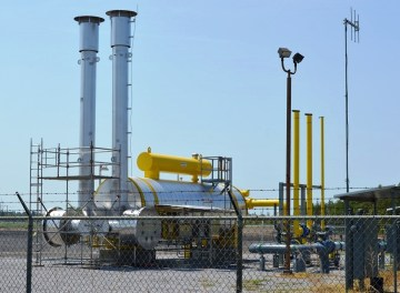 The conversion to natural gas is complete at Alabama Power's Plant Greene County. (Anna Catherine Roberson/Alabama NewsCenter)