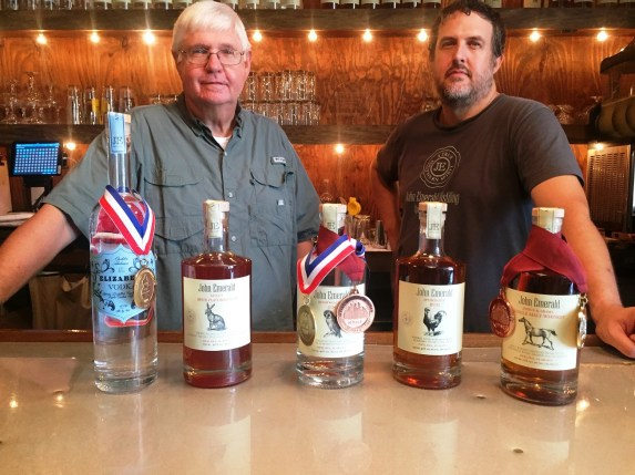 John and Jimmy Sharp are co-owners of John Emerald Distilling Co. in Opelika. (Brittany Faush-Johnson / Alabama NewsCenter)