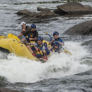 Rafters navigate the Chattahoochee River in Phenix City, Al. (Bernard Troncale/Alabama NewsCenter)