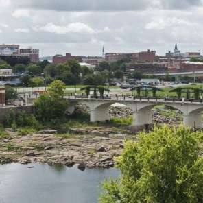 The Chattahoochee River and Columbus, Ga. as seen from Troy University in Phenix City, Al. (Bernard Troncale/Alabama NewsCenter)
