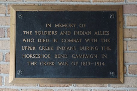 Commemorative plague at the Horseshoe Bend National Military Park in Daviston. (contributed)