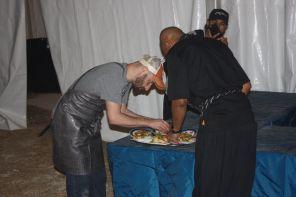 Brent Shiverleft and Gerren Allen of Vinny's Cook Team. (Robert DeWitt/Alabama NewsCenter)
