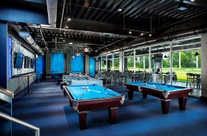 Birmingham officials are displaying a willingness to work with businesses that is paying off in announced developments such as Topgolf downtown. Pictured is the lower lounge at the Topgolf location in Dallas. (Michael Baxter/Baxter Imaging LLC)