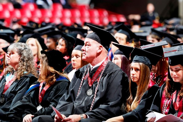 Marty Lyons from the 1979 Sugar Bowl goal line stand was one of more than 30 Crimson Tide student-athletes graduation from the University of Alabama Saturday. (Robert Sutton/UA Athletics)