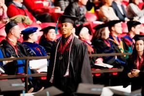 Anthony Averett was one of more than 30 Crimson Tide student-athletes graduation from the University of Alabama Saturday. (Robert Sutton/UA Athletics)