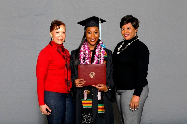 Andrea Hawkins was among more than 30 student-athletes who graduated from the University of Alabama on Saturday (Shelby Akin/UA Athletics)