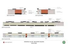 Designs for the retail center at CrossPlex Village. (Davis Architects)