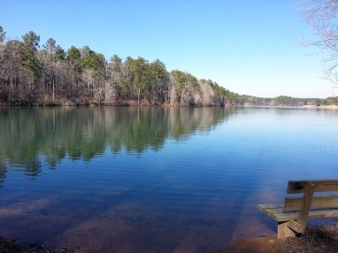 Oak Mountain State Park is open, but its popular beach area is closed. (Shannon Harney)