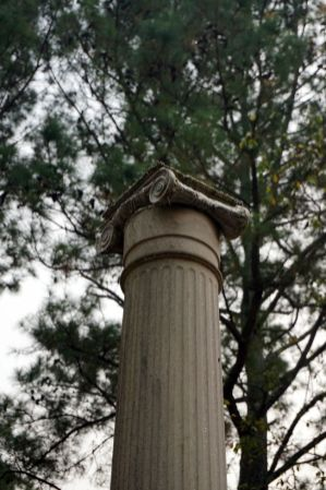 Historic column near the driveway of the Andrew Ross Home, Fort Payne. (Erin Harney/Alabama NewsCenter)
