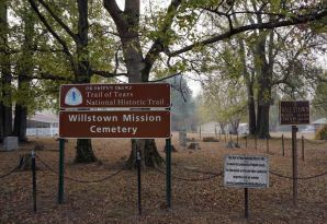 Willstown Mission Cemetery. The American Board of Commissioners for Foreign Missions opened a mission/school for the Cherokee in Willstown. The mission closed prior to the Cherokee removal. (Erin Harney/Alabama NewsCenter)