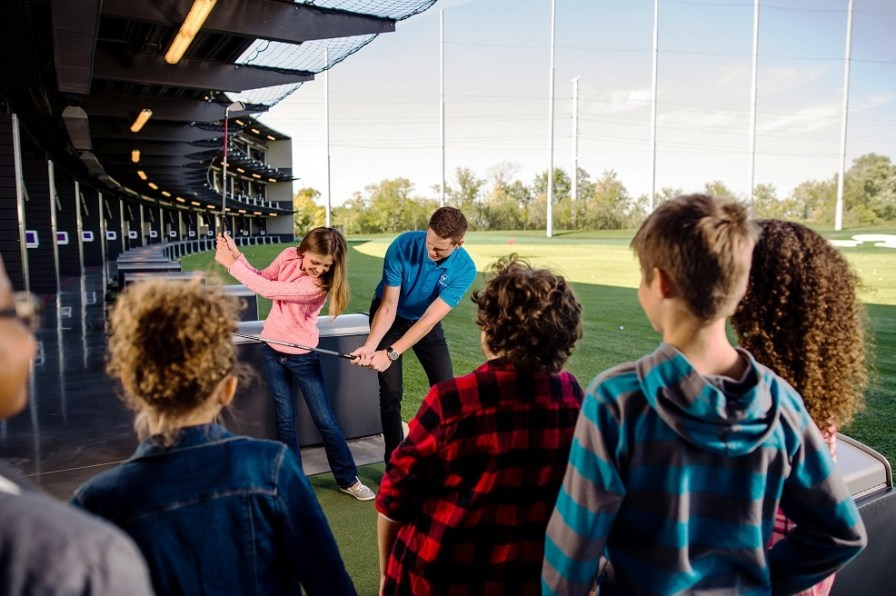 Topgolf offers food, drinks, televisions and more for entertainment beyond the golf range. (Topgolf)