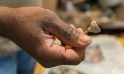 Acorns have been a common element in Smith's work for the past five or six years. (Mark Sandlin/Alabama NewsCenter)