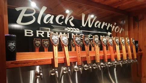 Black Warrior Brewing Co. started as wishful thinking around a campfire and is now a full-flowing reality. (Brittany Faush-Johnson / Alabama NewsCenter)