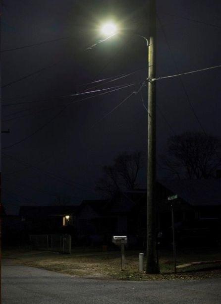 Identical Birmingham street corner after LED light upgrade. (Chris Jones/Alabama NewsCenter)