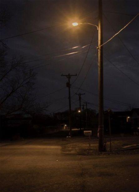 Birmingham street corner before LED light upgrade. (Chris Jones/Alabama NewsCenter)