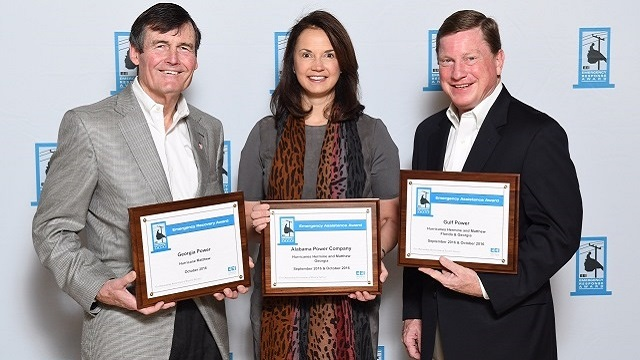 Edison Electric Institute presents Emergency Assistance Award to Alabama Power