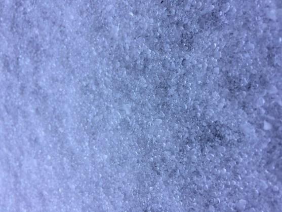 A sheet of ice covers a Homewood driveway. (Bob Blalock/Alabama NewsCenter)