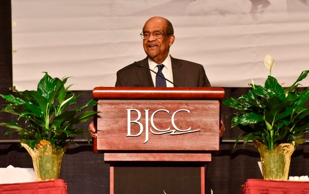 Birmingham held its annual Unity Breakfast at the Birmingham-Jefferson Convention Complex today in honor of Martin Luther King Jr. and civil rights history. Attorney J. Mason Davis delivered the keynote address. (Frank Couch / Alabama NewsCenter)