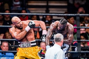 Deontay Wilder defended his WBC heavyweight championship against challenger Gerald Washington in a fifth-round knockout in Birmingham. (Nik Layman / Alabama NewsCenter)
