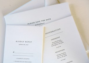 You can feel the impression of the words on an invitation printed by After Press. (Mark Sandlin/Alabama NewsCenter)