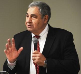 United Ability Executive Director Dr. Gary Edwards explains the name change. (Karim Shamsi-Basha / Alabama NewsCenter)