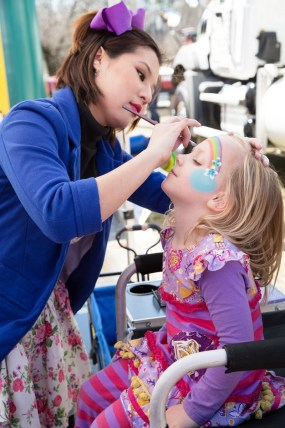 Face painting at last year's cook-off. (Lawrence Elizabeth Knox/The Exceptional Foundation)