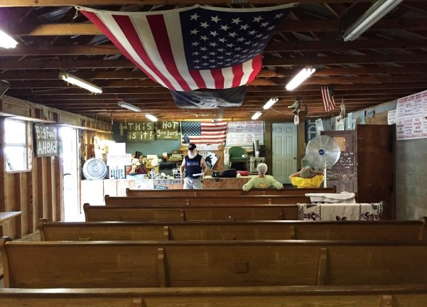 The auction room at Possum Trot, before the fun begins. (Anne Kristoff/Alabama NewsCenter)