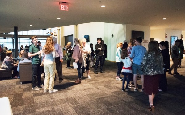 Hopefuls attend this week's national anthem auditions at Regions Field. (Brittany Faush-Johnson/Alabama NewsCenter)