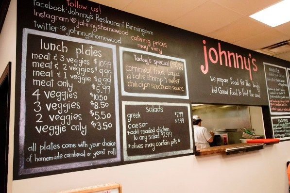 "Johnny's in Homewood is chef Timothy Hontzas' take on a meat-and-three restaurant. Hontzas is a semifinalist for the James Beard Foundation's ""Best Chef: South"" award. (Brittany Faush-Johnson / Alabama NewsCenter)"