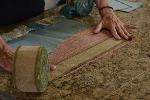 Kellie Guthrie, founder of Re-Invention, partners with two charities to help women living in poverty acquire skills working with fabrics. (Karim Shamsi-Basha/Alabama NewsCenter)