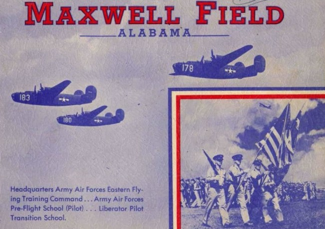 Brochure featuring Maxwell Field in Montgomery; the location of the Southeast Army Air Forces (SEAAF) Training Center, 1943. (Mike Voisin, Army Air Forces Collection, U.S. Army Air Forces, Wikimedia)