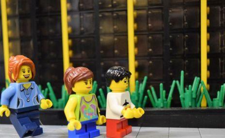 Lego citizens enjoy the McWane Science Center. (Wesley Higgins)