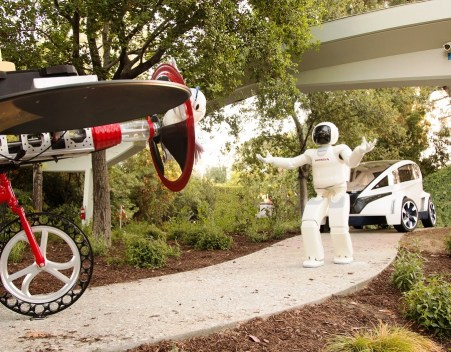 ASIMO is featured at Autopia in Disneyland. (Honda)