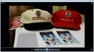Joe DeLeonard came to Pelham Civic Complex with memorabilia from his time as a fan of the Birmingham Bulls of many years ago. Now he can stock up on new collectibles with the announcement that a new team of Birmingham Bulls will take to the ice in the fall of 2017. (Solomon Crenshaw Jr. / Alabama NewsCenter)
