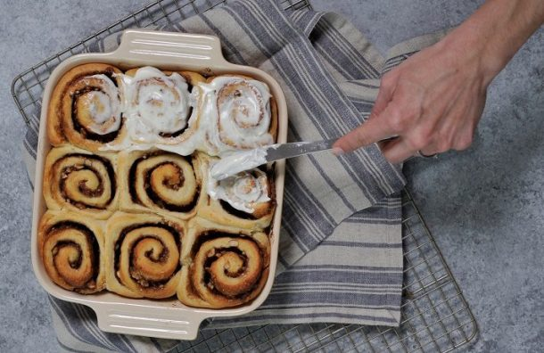 Hazelnut cinnamon rolls can be a new way to enjoy an old favorite. (Ted Tucker/Shorelines)